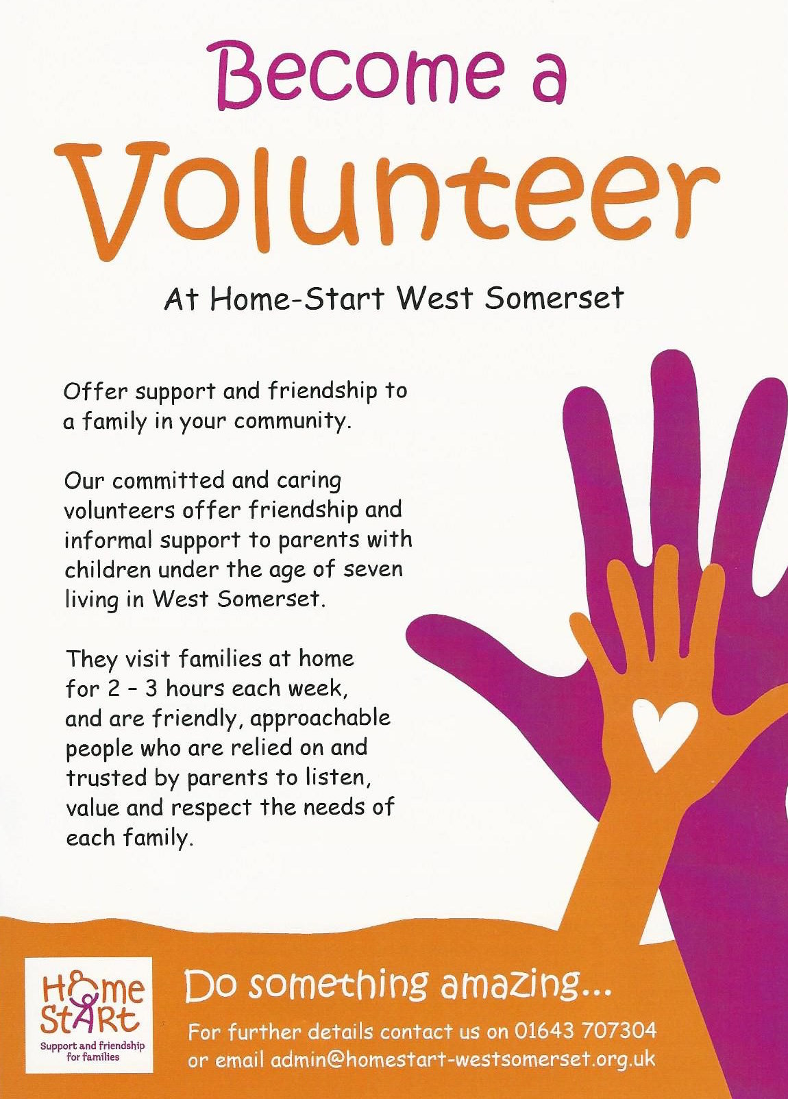 Becoming a volunteer poster