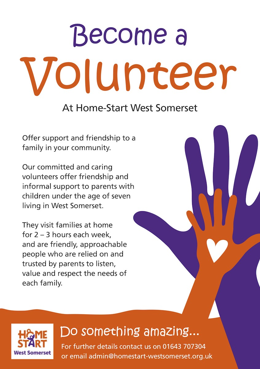 Become a volunteer at Home-Start West Somerset